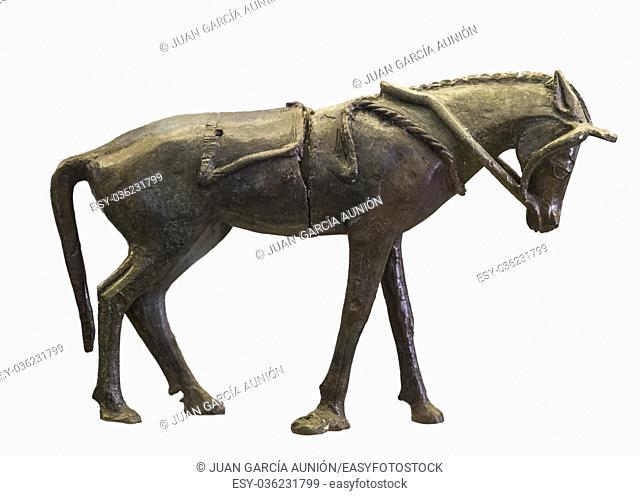 Horse figurine from Tartessian Sanctuary-Palace of Cancho Roano, Zalamea de la Serena, Badajoz, Spain