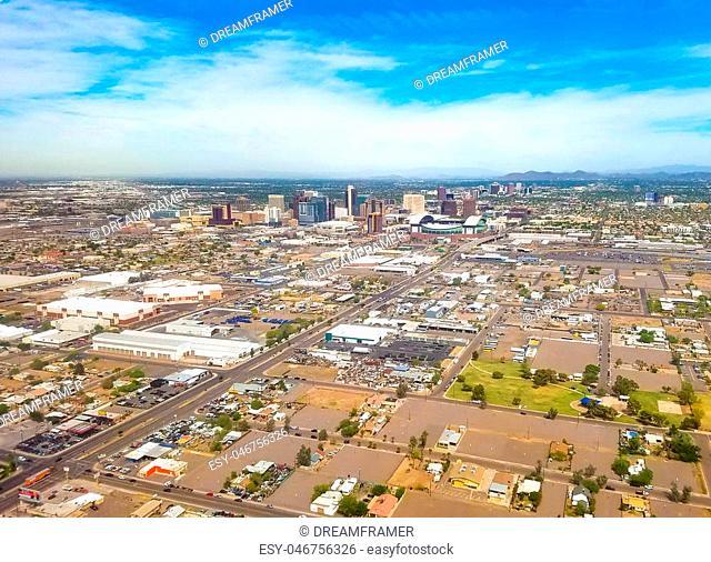 Downtown Phoenix, Arizona, USA. Phoenix is the capitol of Arizona, located in the Valley of the Sun