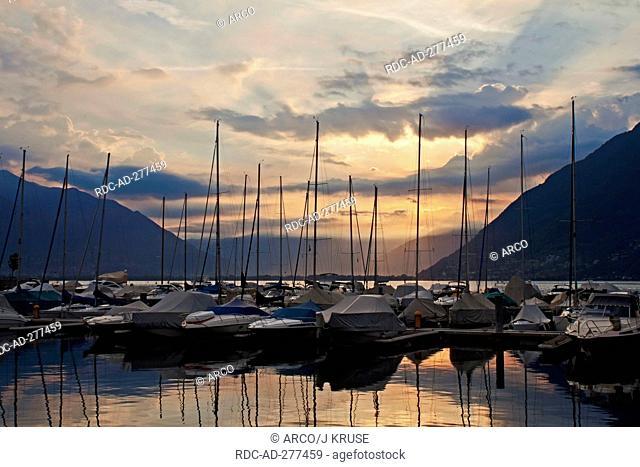 Porto Patriziale, Lago Maggiore, Ascona, Locarno, Ticino, Switzerland