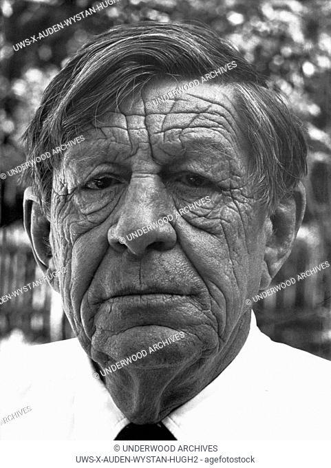United States: c. 1970.Portrait of Wystan Hugh Auden, poet and writer