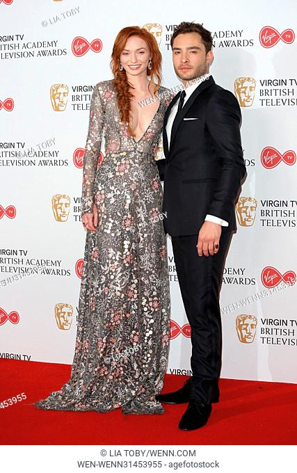 The Television BAFTA Awards 2017 - Winners Room Featuring: Eleanor Tomlinson, Ed Westwick Where: London, United Kingdom When: 14 May 2017 Credit: Lia Toby/WENN