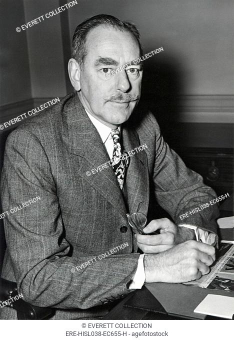 Dean Acheson, Sec. of State, at the American Embassy in London, May 13, 1950. He was attending the Foreign Ministers' Conference at Lancaster House
