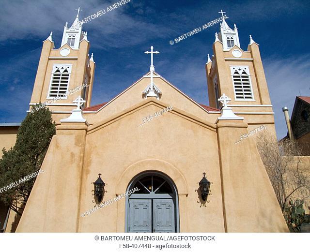 San Felipe de Neri church. Roman catholic church established in 1706 in the old town. Alburquerque. New Mexico. USA