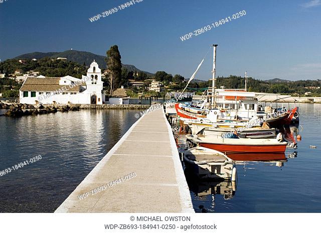 Monastery of Panagia Vlahernon on Vlacherna Island off the Kanoni Peninsular Corfu Greece