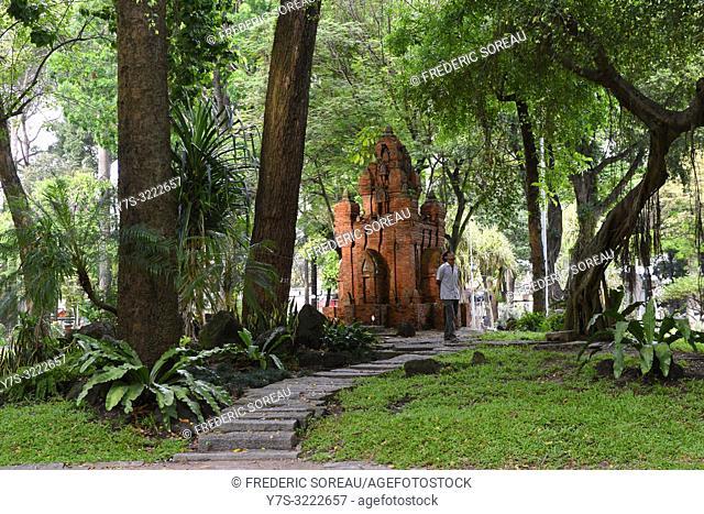 Replica of Nha Trang's Cham tower at Tao Dan park,Ho Chi Minh City,Vietnam,South East Asia