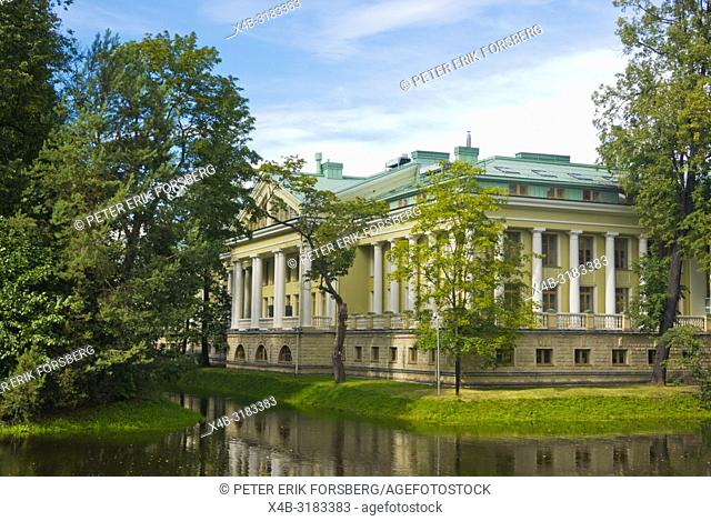 Historical building, on Great Canal, Kamenny ostrov, Kamenny island, Saint Petersburg, Russia