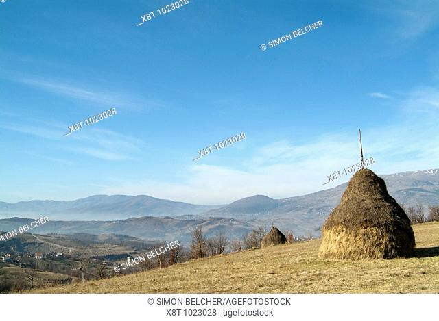 Balkans Landscape, Taken from the Village of Ovnak Overlooking the Vitez Valley Central Bosnia Herzegovina, Eastern Europe