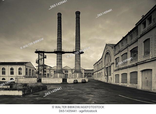 France, Poitou-Charentes Region, Vienne Department, Chatellerault, La Manu, former weapons factory now an exhibition space