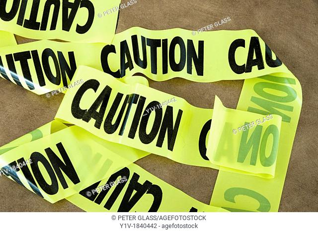 A strip of 'Caution' tape