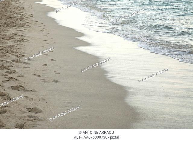 Wave washing onto shore