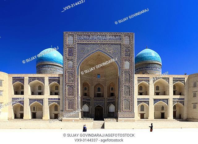 Bukhara, Uzbekistan - August 27, 2016: Miri Arab Madrasa, a wonderful architectural masterpiece of Bukhara