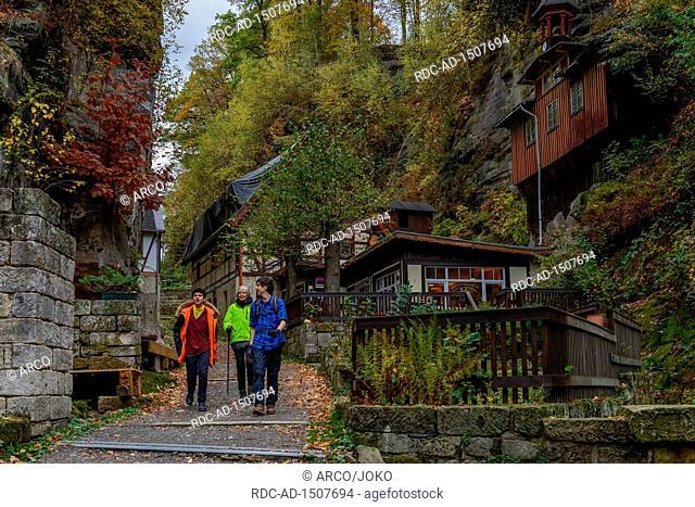 Rathewalder Muehle, Nationalpark Saechsische Schweiz, Sachsen, Deutschland, Rathewalder M³hle
