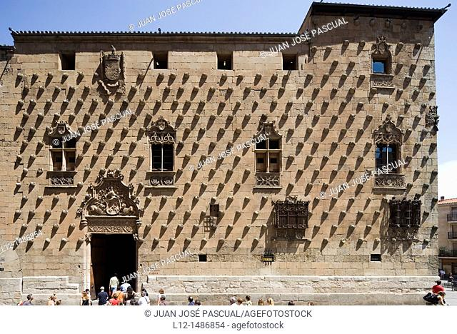 Casa de las Conchas, House of the shells, Salamanca, Castilla y León, Spain