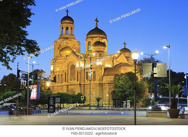 Varna Cathedral at Dusk, Bulgaria