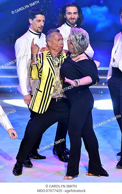 Jury president and dancer Carolyn Smith dances for the first time since she was treated for cancer during the fourth episode of the Ballando con le stelle show...