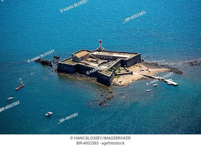 Fort Brescou off Cap d'Agde, Agde, Languedoc-Roussillon, France