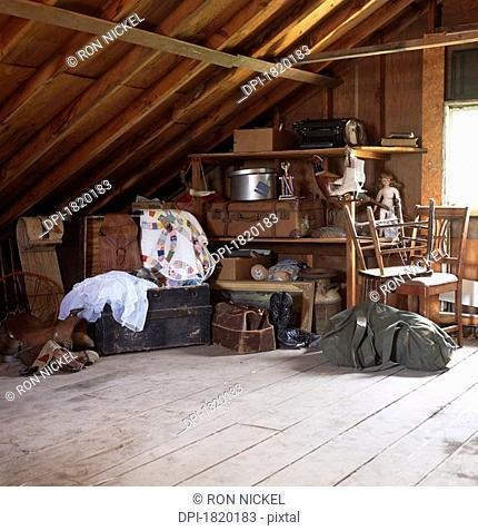 Junk stored in attic