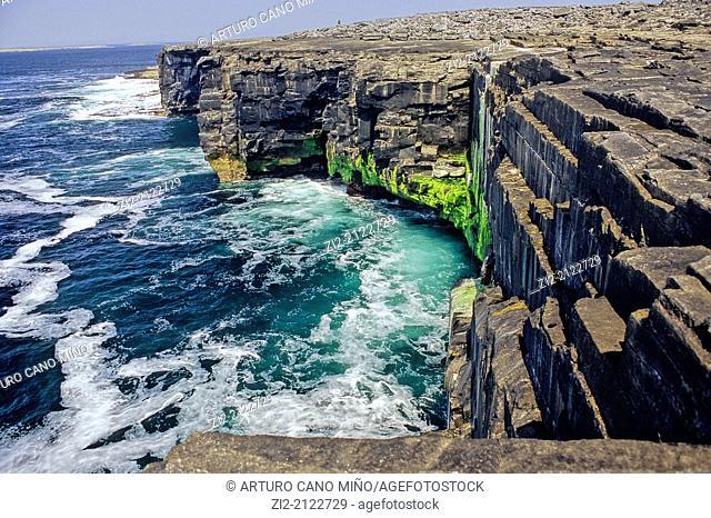 Cliff. Inishmaan, Aran Islands, Republic of Ireland