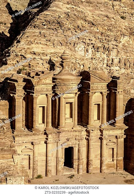 The Monastery, Ad-Deir, elevated view, Petra, Ma'an Governorate, Jordan