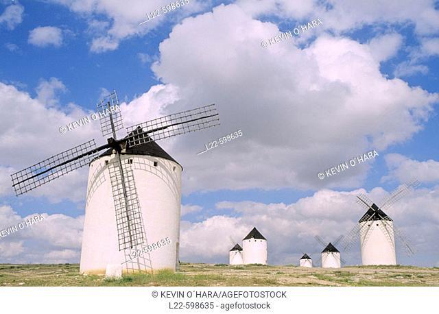 Windmills in Campo de Criptana. Castilla-La Mancha. Spain