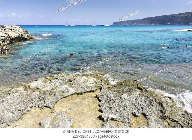 Es Calo de Sant Agusti in Formentera, Spain