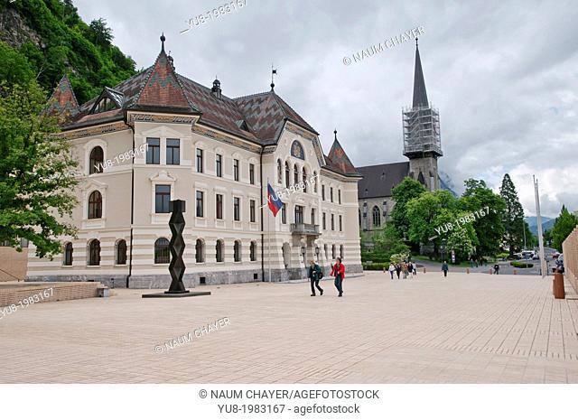 Government House, Vaduz, Liechtenstein, Principality of Liechtenstein, Central Europe