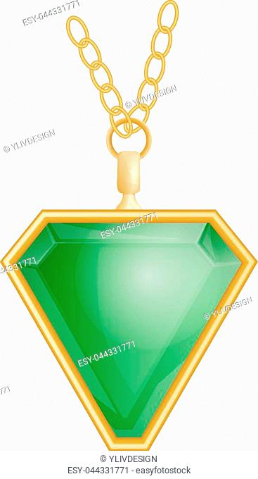 Necklace piece white background Stock Photos and Images | age fotostock