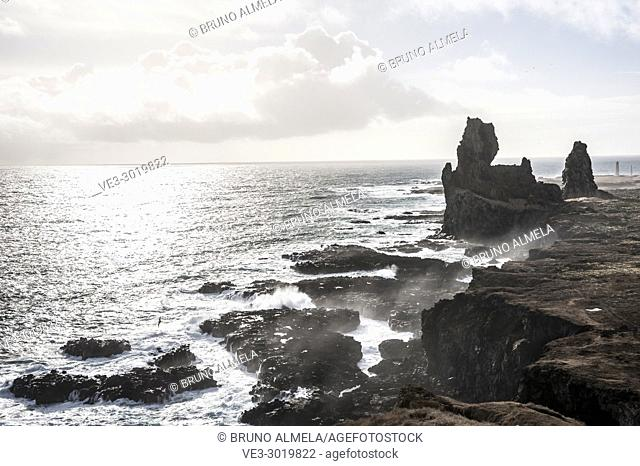 Londrangar Rock in Snæfellsnes peninsula (region of Vesturland, Iceland)
