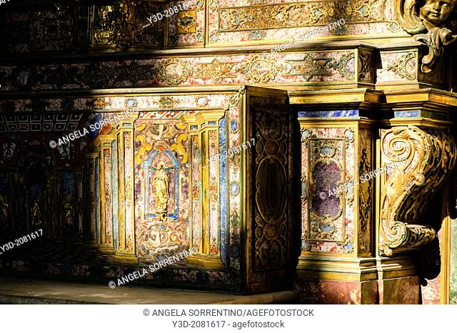 Royal Chapel of Assunta in Naples Royal Palace, detail of the altar