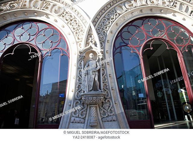 Rossio Station Horseshoe Portals in Lisbon - Portugal