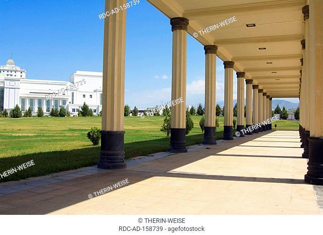 Colums at national Museum Ashgabat Turkmenistan Asgabat collonade
