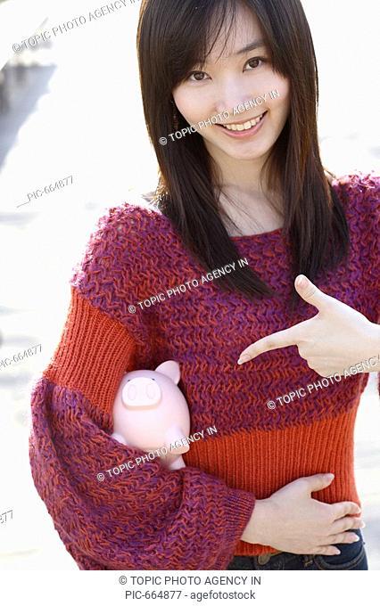 Girl with Piggybank,Korea