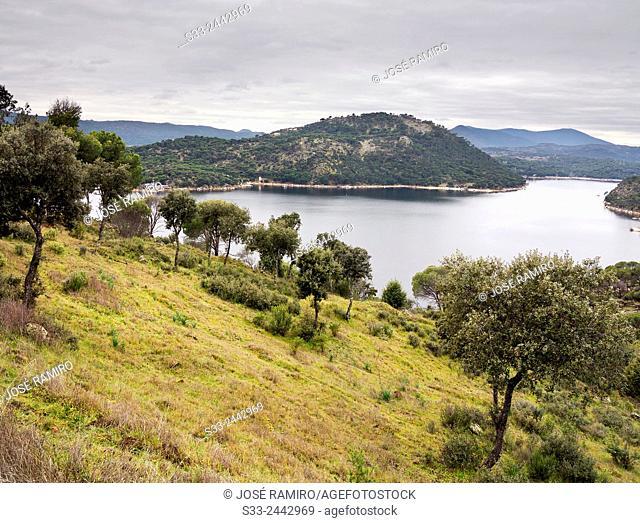 San Juan reservoir in San Martin de Valdeiglesias. Madrid. Spain. Europe