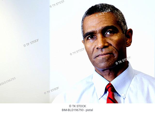 Serious African American businessman