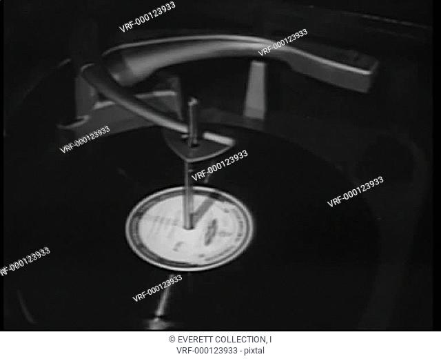 Automatic record player playing record