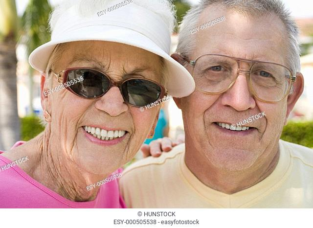 Portrait of a senior couple smiling