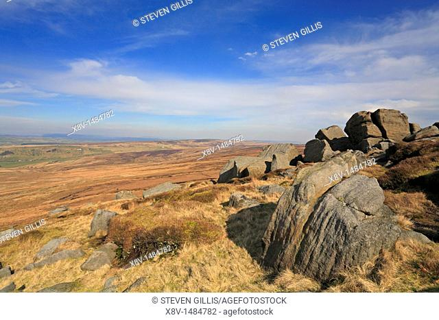 Great Saucer Stones, Boulsworth Hill, Colne, Lancashire, England, UK