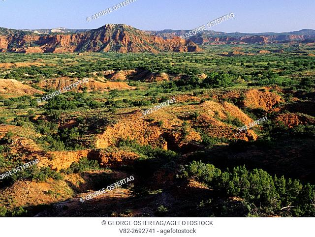 Desert overlook view, Caprock Canyons State Park, Texas