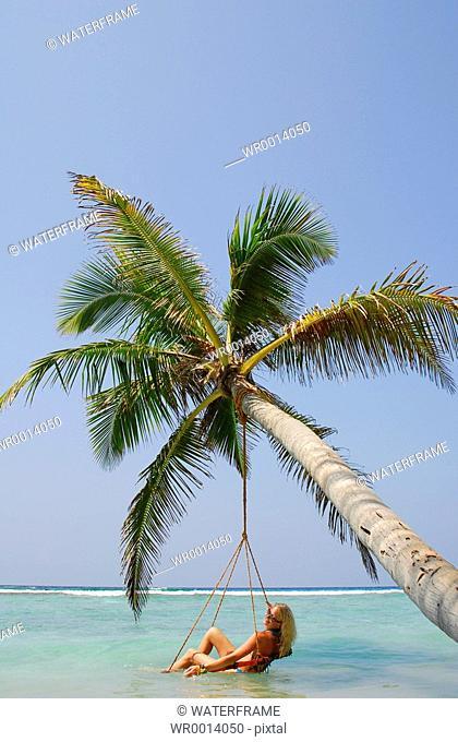 Relaxing at Beach, Indian Ocean, Maldives