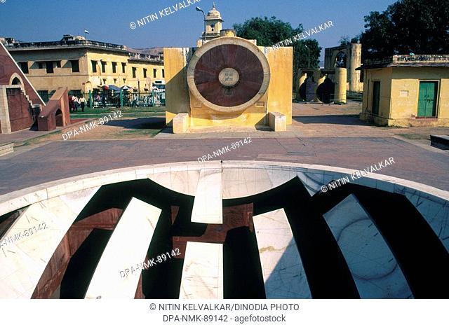 Narivalaya Dakshin gola and Jaiprakash yantra , Jantar Mantar , Jaipur , Rajasthan , India