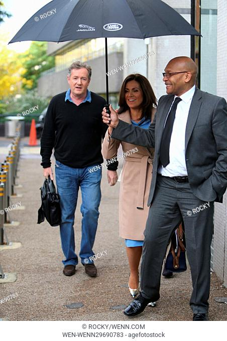 Susanna Reid and Piers Morgan seen leaving ITV Studios together Featuring: Susanna Reid, Piers Morgan Where: London, United Kingdom When: 17 Oct 2016 Credit:...