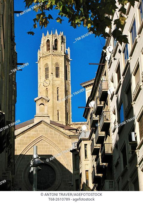 Bell tower of the Seu Vella, Lleida, Catalonia, Spain