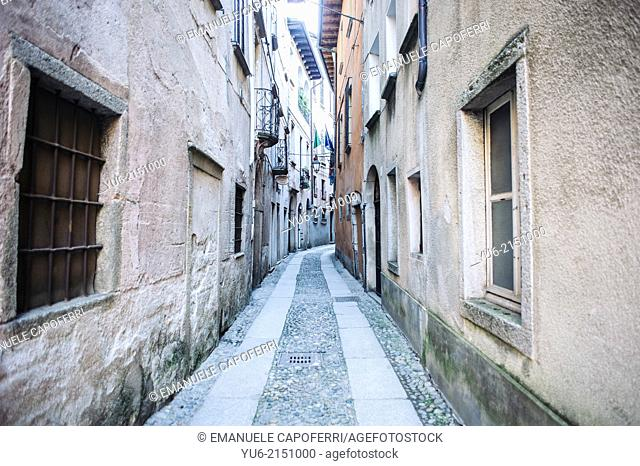 Alley, village of Orta, Lake Orta, Piedmont, Italy