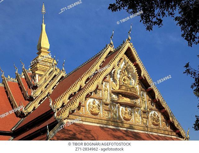 Laos, Vientiane, Wat That Foun, buddhist temple,
