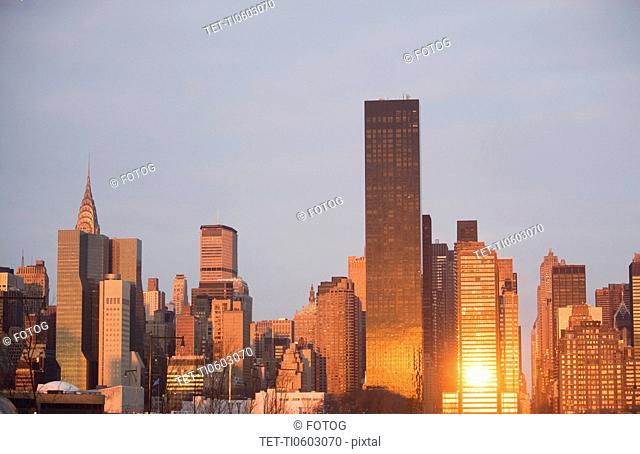 USA, New York State, New York City, Trump World Tower and skyscrapers in Manhattan
