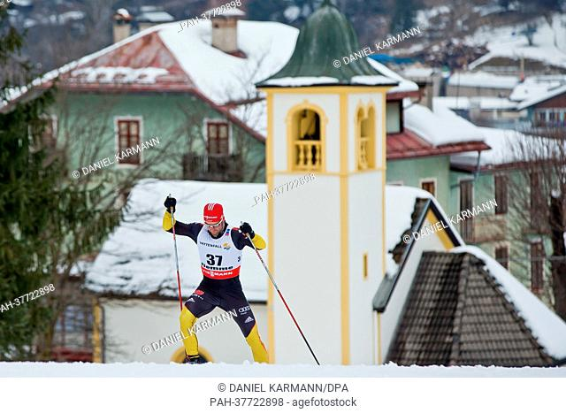 Tim Tscharnke of Germany competes during the cross country men 15 km free individual at the Nordic Skiing World Championships in Val di Fiemme, Italy