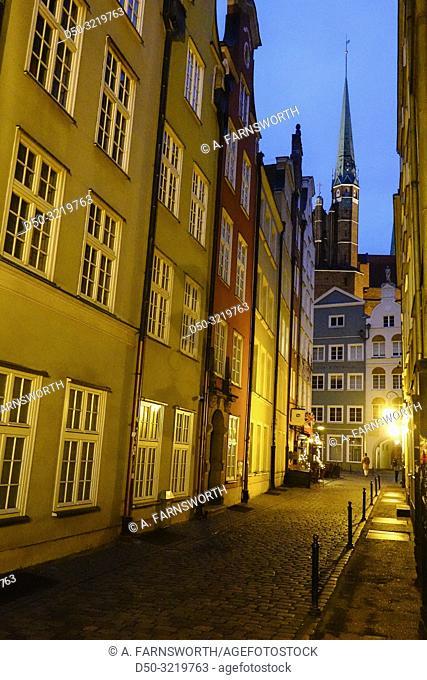 Gdansk, Poland Pedestrians on Dlugi Targ or Long Street in the Old Town