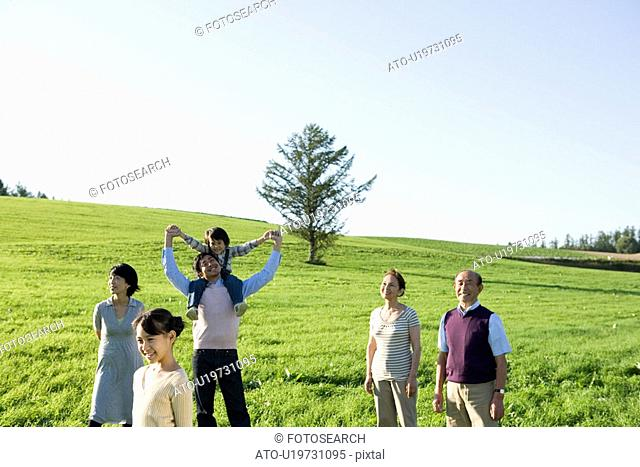 Three generation in a field