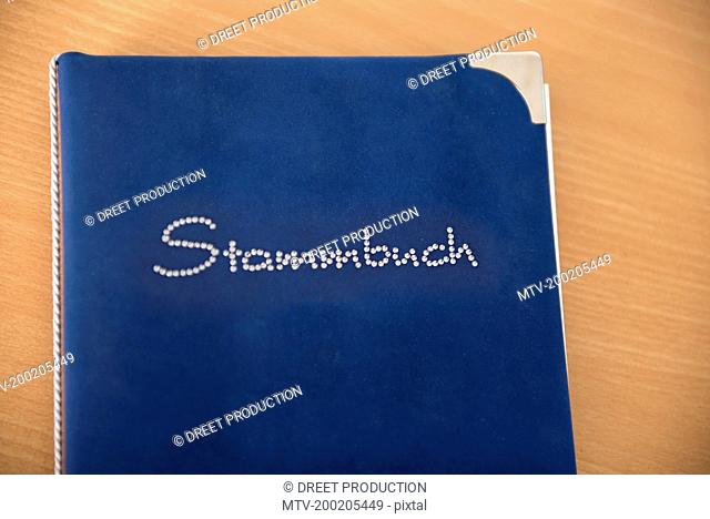 German family register book blue Stammbuch
