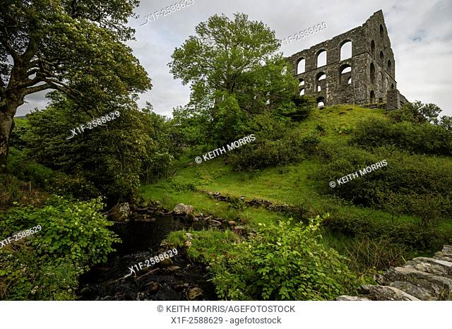 Industrial archaeology: the dramatic ruins of Ynys y Pandy Disused Slate Mill, Cwmystradllyn, Snowdonia National Park